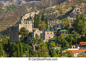 (girne), -, kyrenia, 北, 修道院, 修道院, キプロス, bellapais