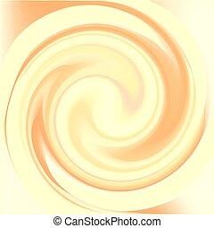 giro, gloss., creme, turbilhão, color., realístico,...