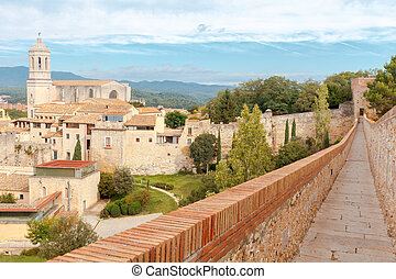 Girona. The fortress wall.