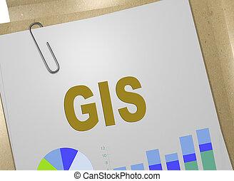 gis, -, concept, emplacement