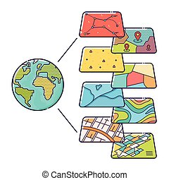 gis, pojem, data, úroveň, jako, infographic