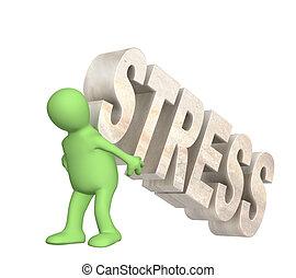 gisslan, av, den, stressa