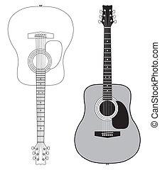 gitár, akusztikai