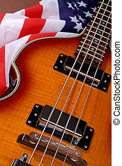 gitár, amerikai, kő