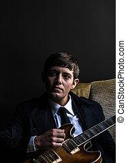 gitár, ember