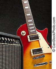 gitár, erősítő, elektromos