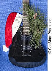 gitár, kalapok, szent
