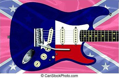 gitár, lázadó, texas, elektromos
