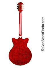 gitár, semi-hollow, hát