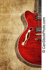 gitár, semi-hollow