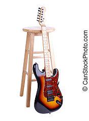gitár, széklet