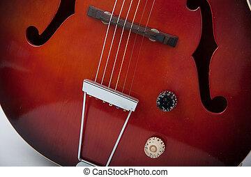 gitár, szüret, semi, akusztikai