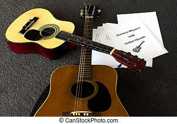 gitaar, akoestisch, les