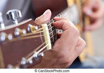 gitaar, dichtbegroeid boven