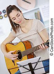 gitaar gespeel
