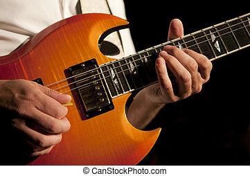 gitaar, handen