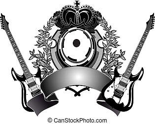 gitaar, heraldisch
