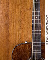 gitaar, leunend tegen de muur