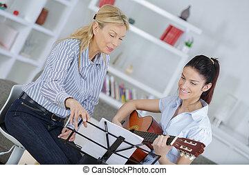 gitaar, sessie, leerprogramma
