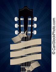gitaar, spandoek