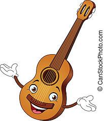 gitaar, spotprent
