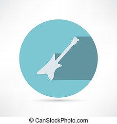 gitaar, vector, -, illustratie