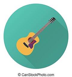 gitaar, vector, illustratie