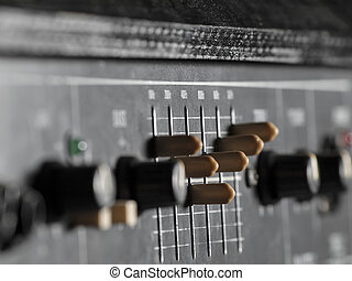 gitaar, versterker, baars