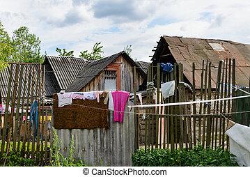 gitan, village, dans, ukraine