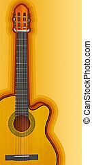 gitara, akustyczny, klasyczny