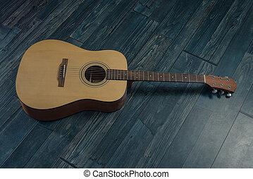 gitara, floor.