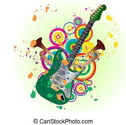 gitara, grunge