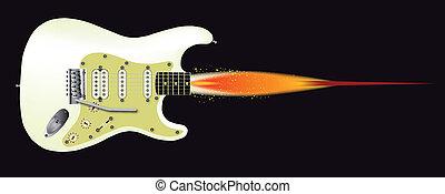 gitara, rakieta