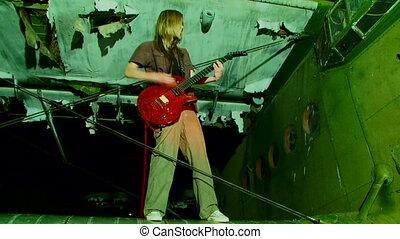 gitaray, girl, rouges
