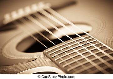 gitarr, akustisk, grunge