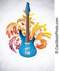 gitarre, hintergrund