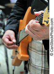 gitarre, in, hand