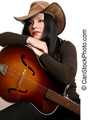 gitarre, land, schauspieler