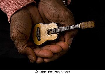 gitarre, mann