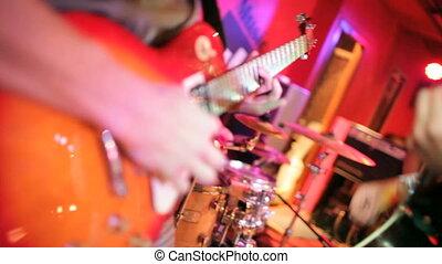 gitarre, musiker, spielende