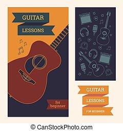 gitarre, plakat