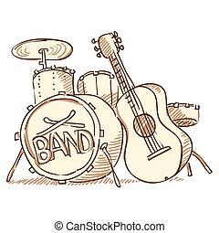 gitarre, trommeln