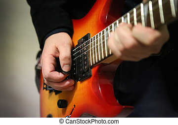 gitarre, und, gitarrist