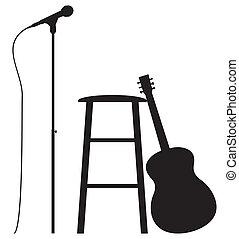 gitarrist, aufstellen