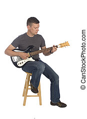gitarrist, spielende