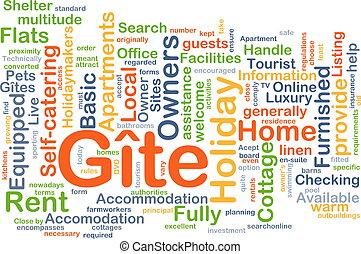 Gite background concept