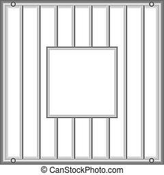fenster gef ngnis illustriert zelle fenster gef ngnis ansicht. Black Bedroom Furniture Sets. Home Design Ideas