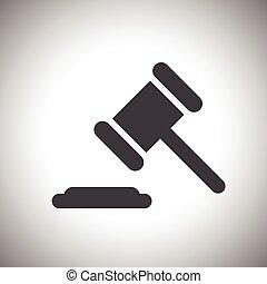 giudice, o, asta, icona martello