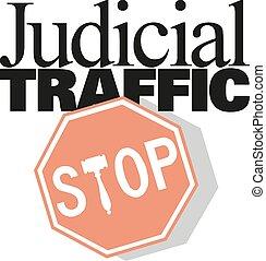 giudiziario, fermi segnale, vettore, traffico, icona