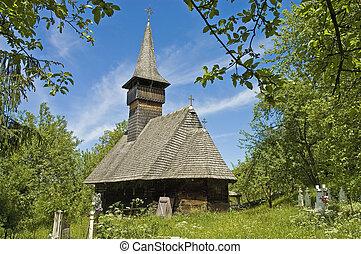 Giulesti village in Maramures, Romania
